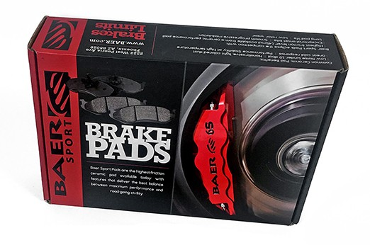 Baer Sport Pads, Front, Fits Various GM and Hummer Applications