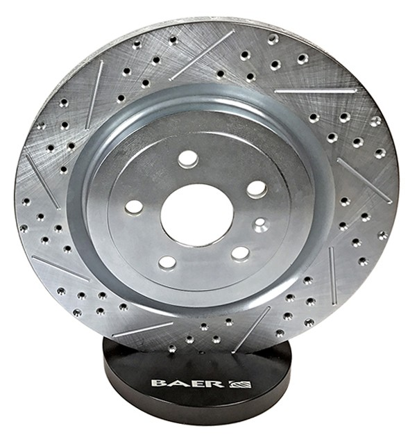 Baer Sport Rotors, Rear, Fits 03-10 Saab 9-3