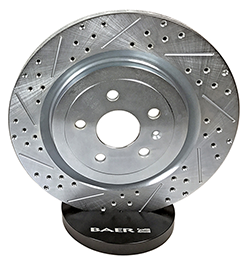 Baer Sport Rotors, Rear, Fits 05-07 Subaru Impreza WRX STI Applications